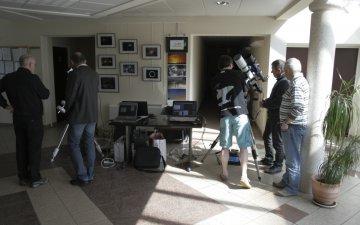 Inauguration de l'exposition photos de Mignaloux, en compagnie des membres du 3ème Oeil